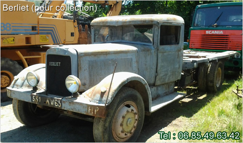 berliet fourgon 1934  pour collection